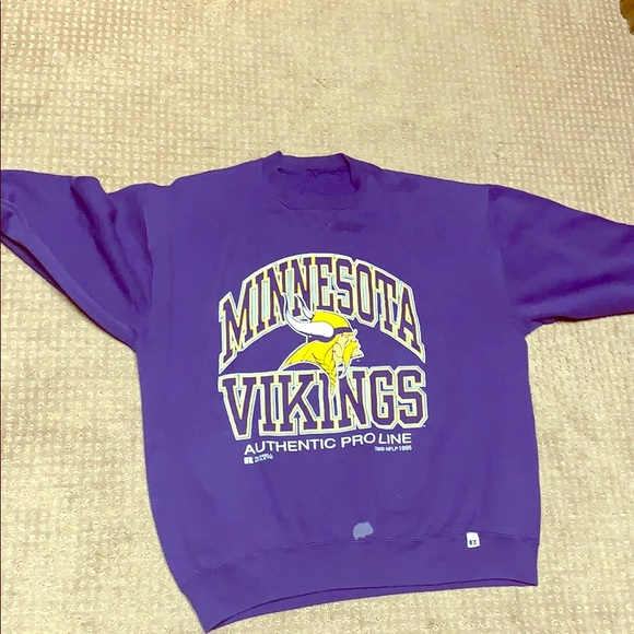 Russell Athletic Other - Minnesota Vikings crew night, hits like men's L